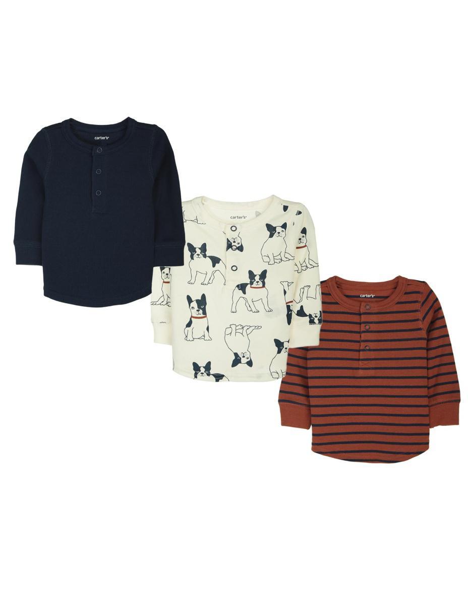 Set de playeras Carter s algodón para bebé b3b67f56841