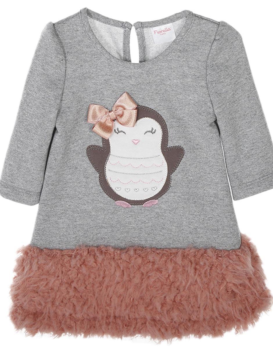 d0f8334fc7 Vestido jaspeado Fiorella algodón para bebé