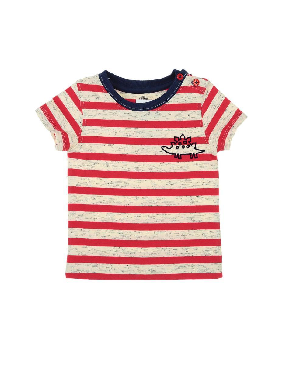 50a4f4558dcbc Playera a rayas Mon Caramel algodón para bebé